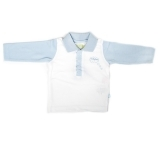 Ducky Beau Polo-Shirt / Longsleeve hellblau-weiß