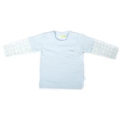 Ducky Beau Shirt / Longsleeve weiß-hellblau