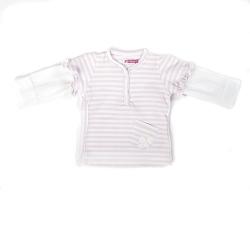 Ducky Beau Shirt / Longsleeve rosa-weiss