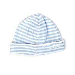 Ducky Beau Mütze Streifen hellblau-weiss