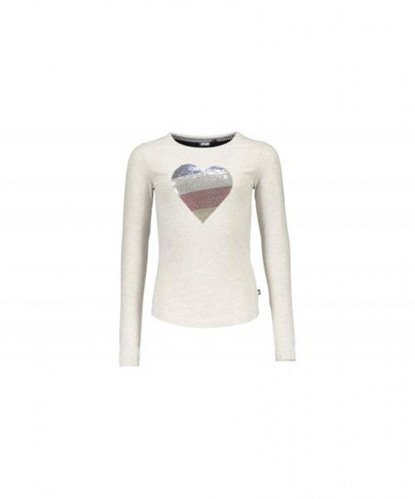 LIKE FLO Langarm-Shirt/Longsleeve Herz ecru mele