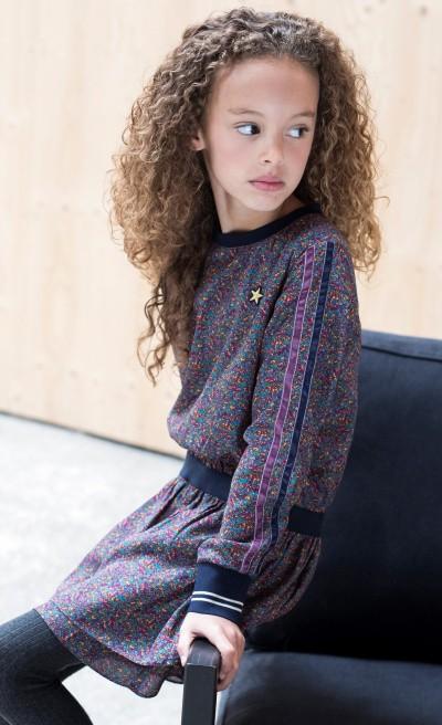 LIKE FLO Langarm-Kleid multicolor
