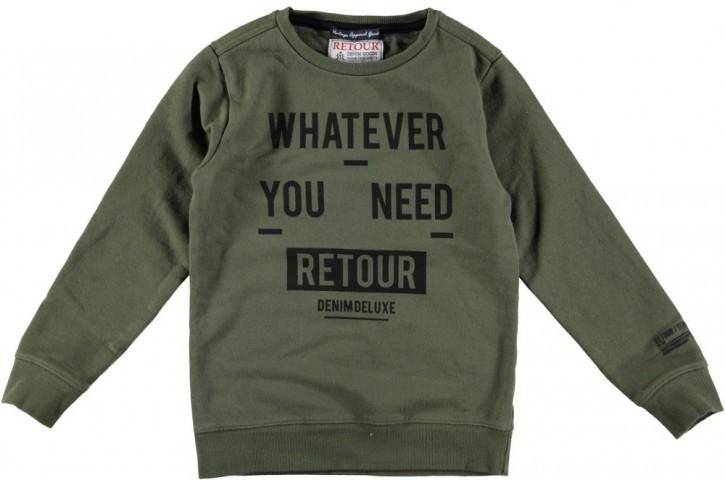 RETOUR Sweat-Shirt GUIDO army