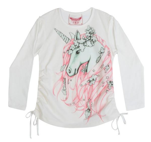 Paper Wings Langarm-Shirt/Longsleeve WINTER UNICORN pink grey cream