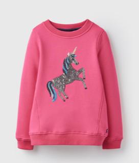Joules Mädchen Sweat-Shirt Einhorn pink