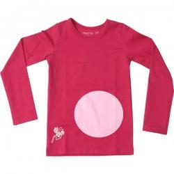 Kiezel-tje Basic-Langarmshirt/Longsleeve rosa