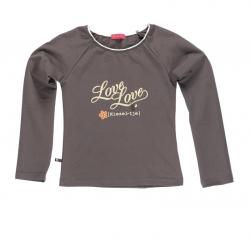 Kiezel-tje Longsleeve/Langarmshirt mit Print taupe