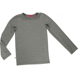 Kiezel-tje Basic-Langarmshirt/Longsleeve grau