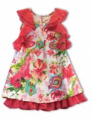 Pezzo D´oro Kleid Blumen/Logo-Muster