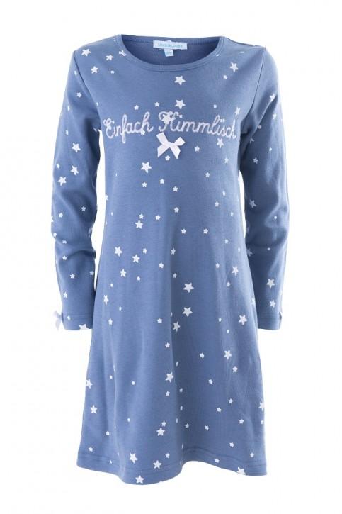 """Louis & Louisa Mädchen Nachthemd """"Einfach Himmlisch"""" blau allover"""