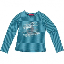 Kiezel-tje Langarm-Shirt Streifen petrol