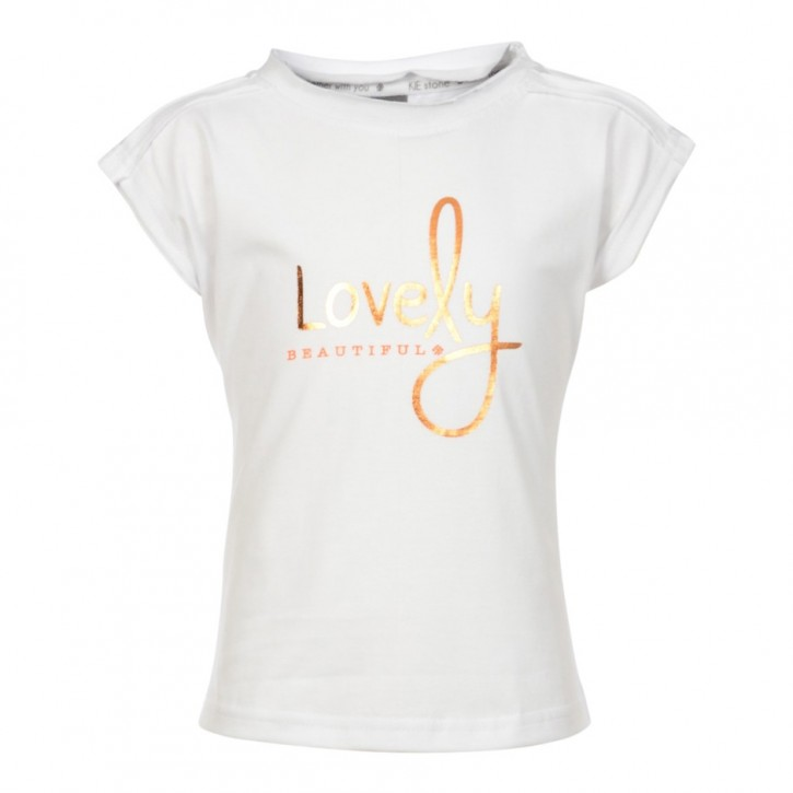 "KIE stone T-Shirt ""Lovely"" white"