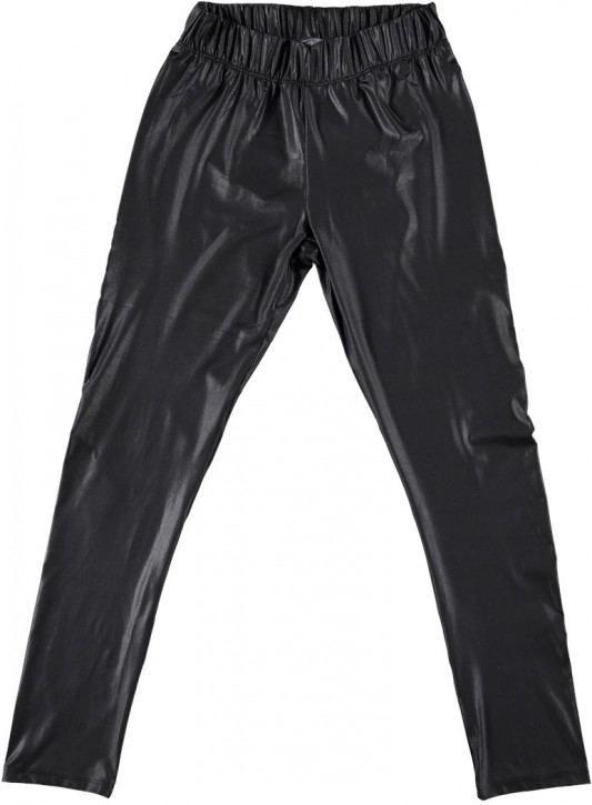 Geisha Legging glänzend Leder-Look schwarz