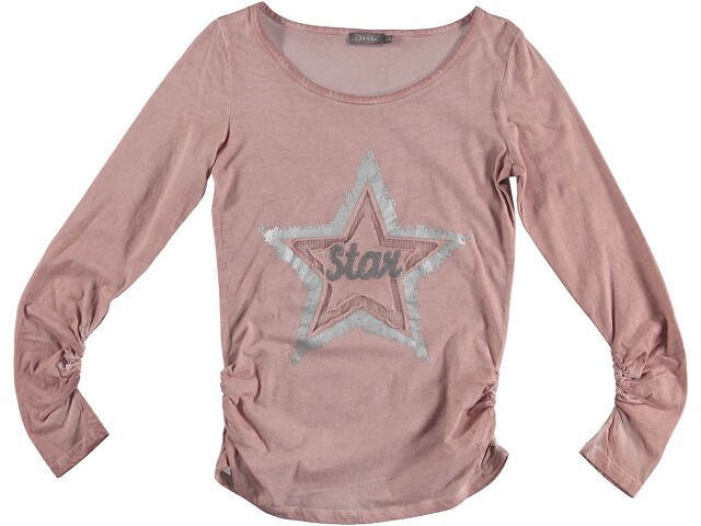 Geisha Langarm-Shirt/Longsleeve old pink