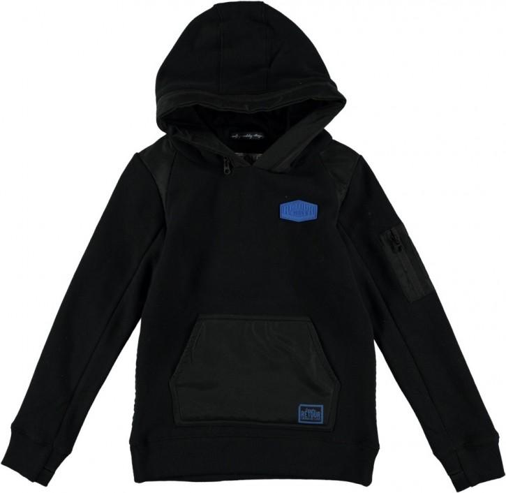 RETOUR Kapuzen-Sweat-Shirt MATHEW black