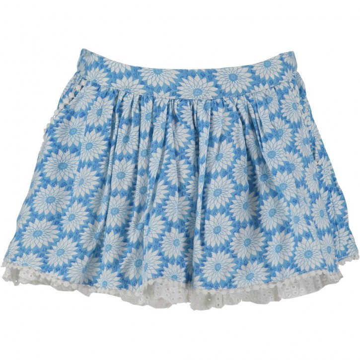 Mim-Pi Rock Blumen blau-weiß