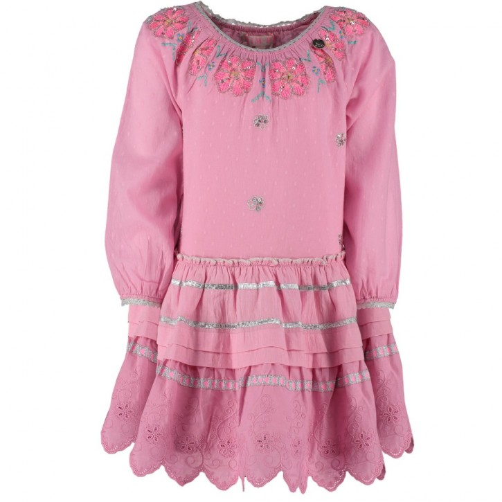 Mim-Pi Langarm-Kleid Stickerei powder-pink