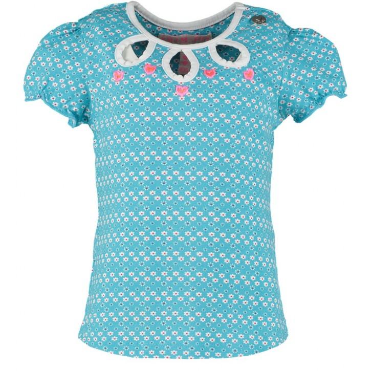 Mim-Pi T-Shirt Blümchen türkis