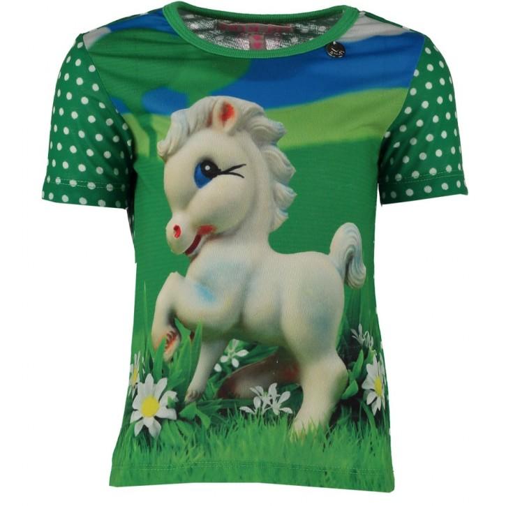 Mim-Pi T-Shirt Einhorn grün