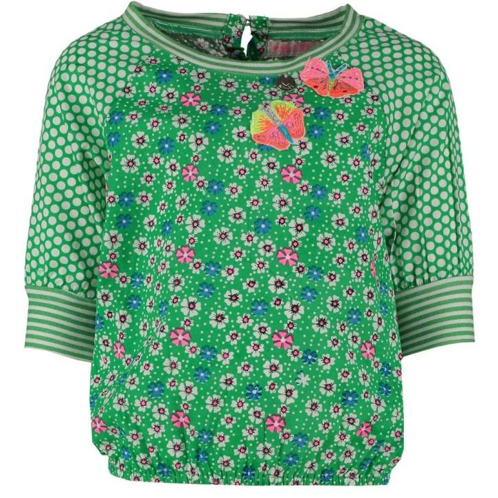 Mim-Pi Blusen-Shirt Mustermix grün