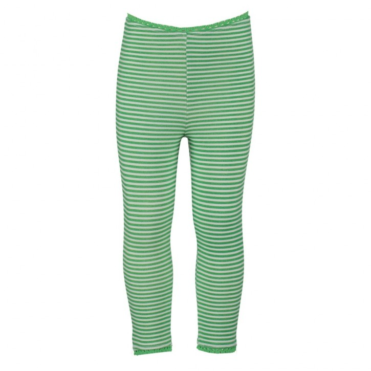 Mim-Pi Legging Streifen grün/weiß