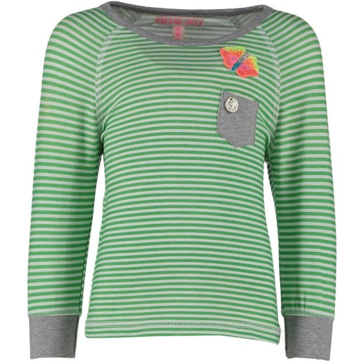 Mim-Pi Langarm-Shirt/Longsleeve Streifen grün/weiß
