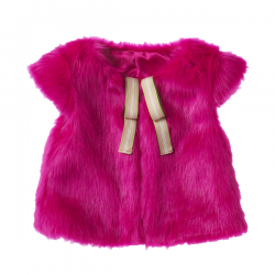 Mim-Pi Plüsch-Weste/Cardigan pink