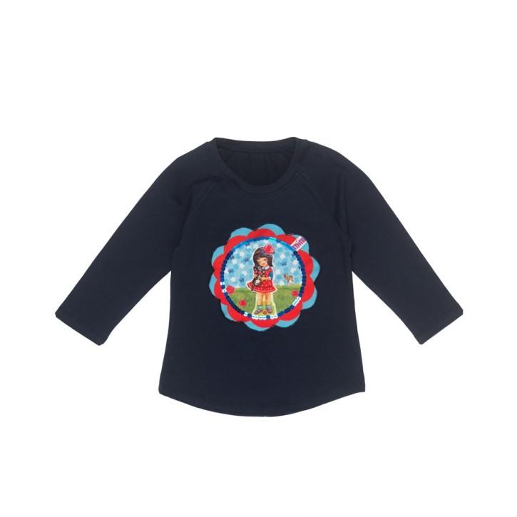 Mim-Pi Langarm-Shirt/Longsleeve Mädchen blau