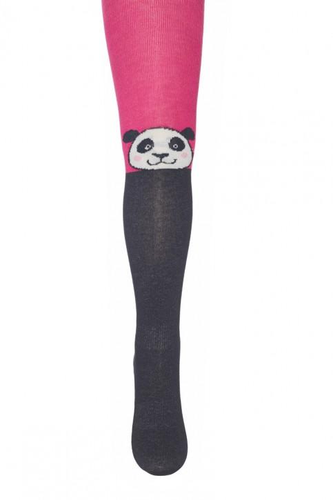 Mim-Pi Strumpfhose Panda schwarz pink