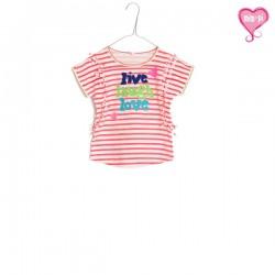 Mim-Pi T-Shirt Streifen weiss-orange