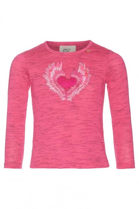 Mim-Pi Langarm-Shirt/Longsleeve Herz pink meliert