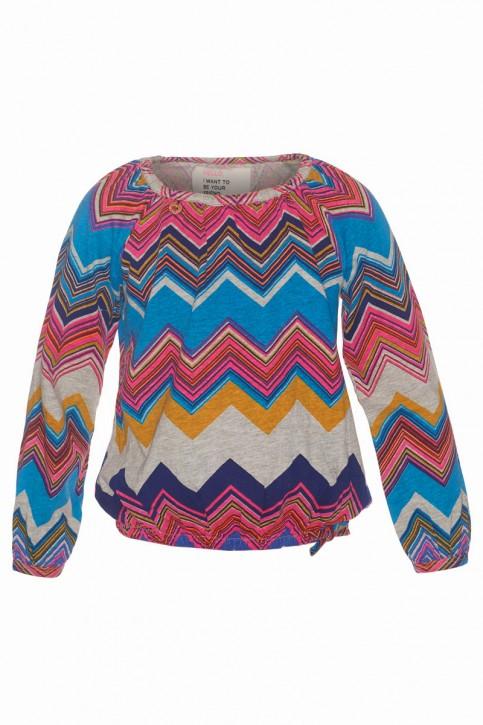 Mim-Pi Bluse Zickzack multicolor
