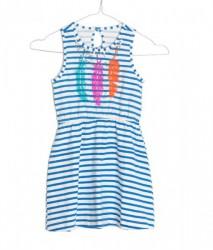 Mim-Pi Kleid Streifen blau-weiß