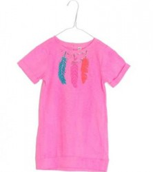 Mim-Pi T-Shirt pink Feder-Print