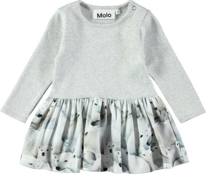 Molo Mini Mädchen Langarm-Kleid CAREL Polar Bear Jersey