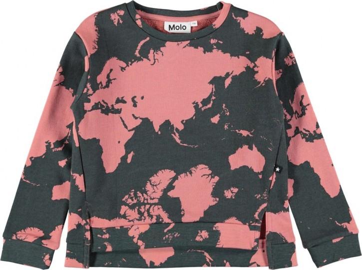 Molo Mädchen Sweat-Shirt/Langarm-Shirt MALISSA World Map