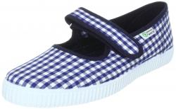 NATURAL WORLD Mädchen Schuhe Vichy-Karo marine-weiss
