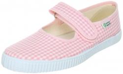NATURAL WORLD Mädchen Schuhe Vichy-Karo rosa-weiss