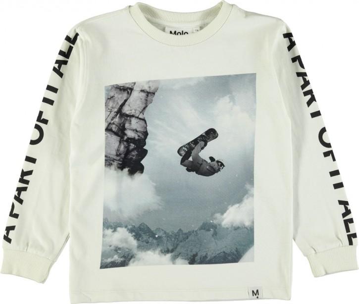 Molo Jungen Langarm-Shirt/Longsleeve REZO Snowboarder