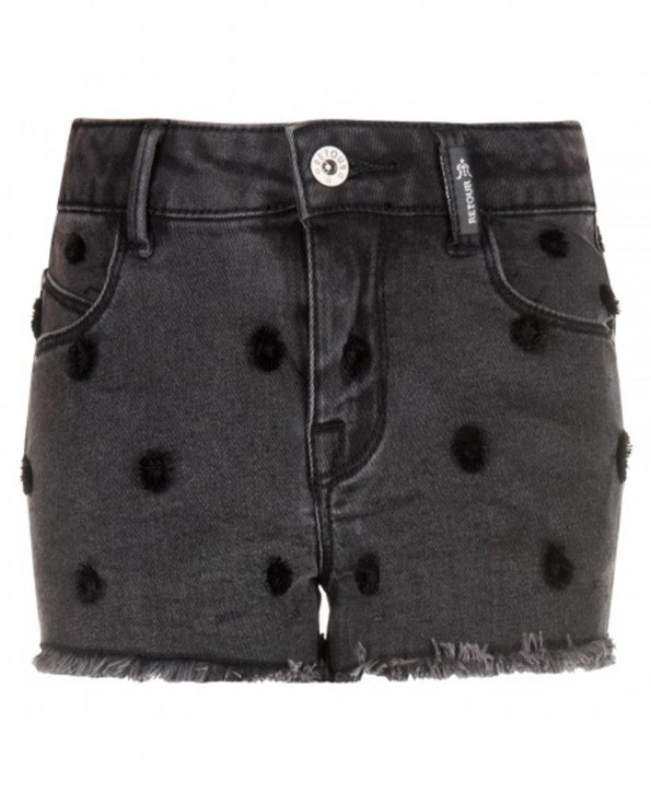 RETOUR DENIM Jeans-Shorts SAMANTHA dark grey denim