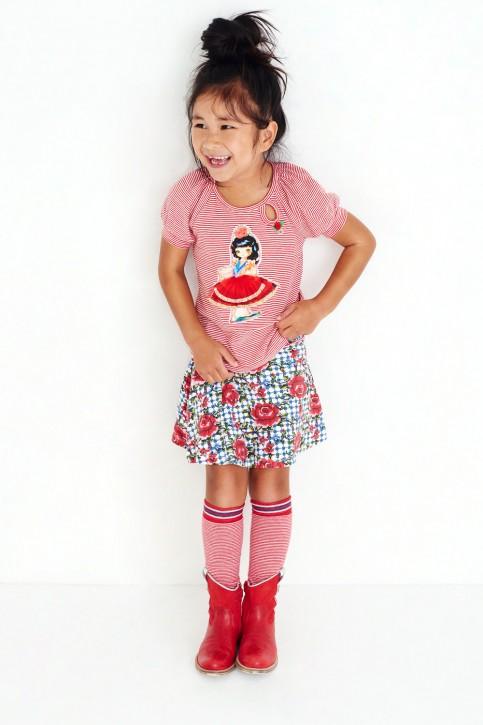 Mim-Pi T-Shirt Flamenco-Tänzerin rot-weiß