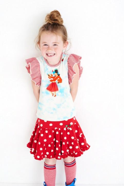 Mim-Pi T-Shirt Flamenco-Tänzerin rot-weiß-blau
