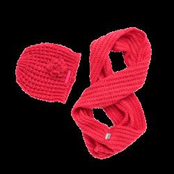 Vingino Set Mütze und Loop-Schal VERONICA bright pink