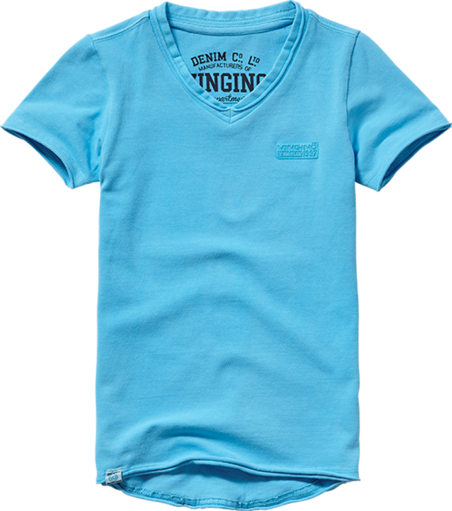 Vingino Basic T-Shirt V-Neck HELLOW soft neon blue