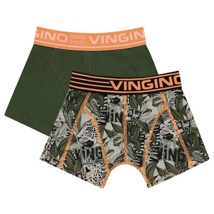 Vingino Boxer/Short 2er-Pack LEO dark army