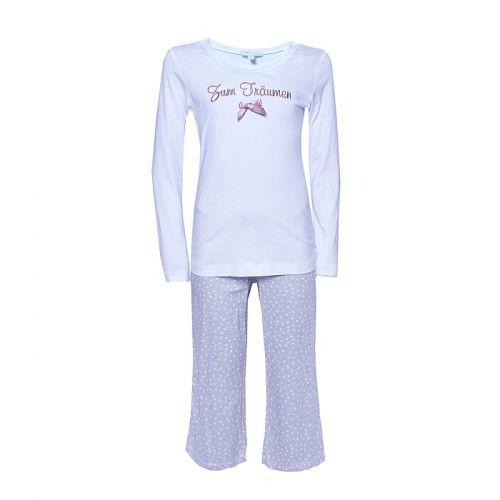 """Louis & Louisa Mädchen Schlafanzug/Pyjama """"Zum Träumen"""" weiß / beige"""
