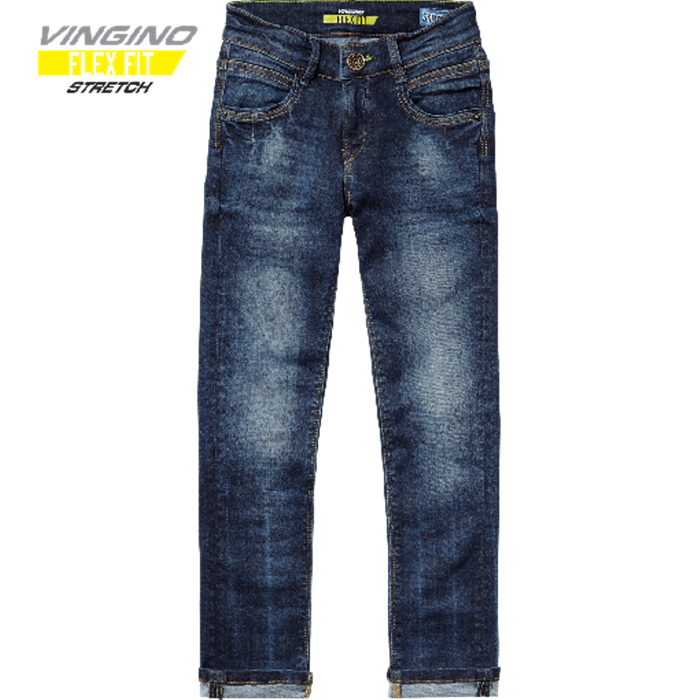 kindermode bei lieblingsdings vingino jungs skinny flex fit jeans armanno dark used. Black Bedroom Furniture Sets. Home Design Ideas