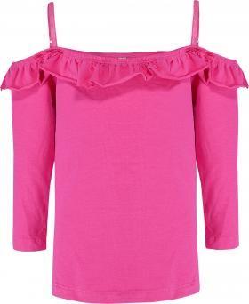 Blue Effect Mädchen 3/4-Arm-Carmen-Shirt pink