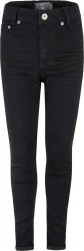 Blue Effect cropped Mädchen High-Waist Jeans black clean NORMAL
