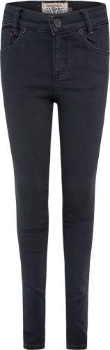 Blue Effect Mädchen Ultrastretch Jeans black seitl. Leo-Streifen NORMAL